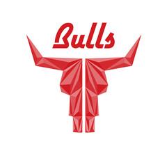 Skull of bull, abstract logo of company or sport club