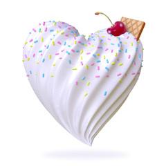 heart shaped ice cream
