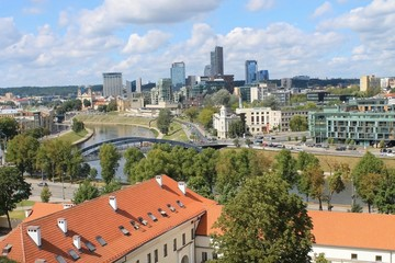 Vilnius city view from the tower Gedemin