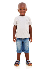 young african boy standing
