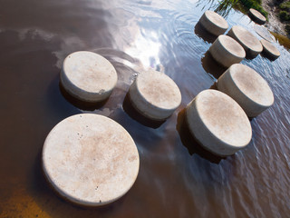 Step stones in water