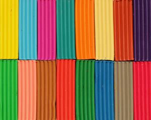 The color pieces of plasticine