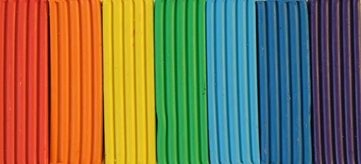 rainbow colors of plasticine
