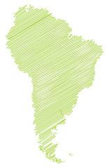 Landkarte *** scribbled Südamerika