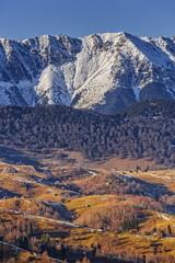 Mountain landscape with Piatra Craiului National Park, Romania