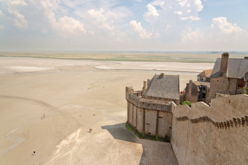 Part of the walls surrounding Mont St Michel