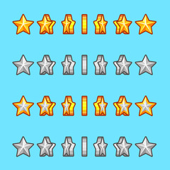 Star gold silver rotation set sprite game