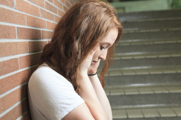Sad lonely student