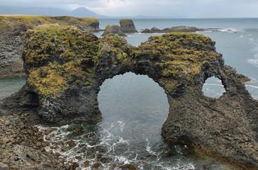 Basalt formations at Arnarstapi