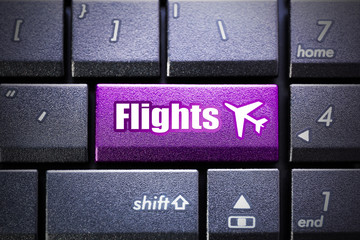 Flights button on the computer keyboard