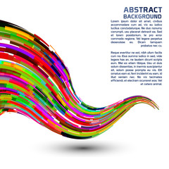 Abstract colorful wave form background.