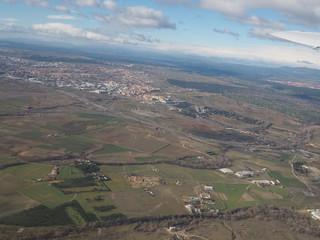 Vista aerea de la Comunidad de Madrid