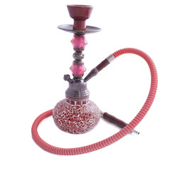 red glass hookah