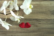 czerwone serduszka na walentynki