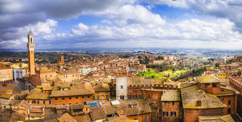 Siena - beautiful medieval town of Tuscany, Italy