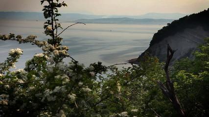 Still shot of cliff near Isola