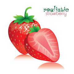 realistic strawberry