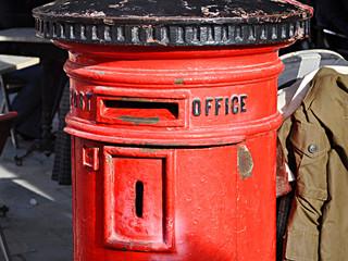 Gibraltar, británicos, buzón de Correos, cartas, postales