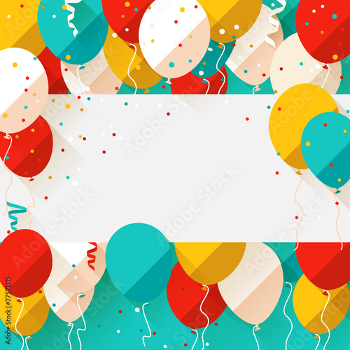 Happy Birthday announcement / poster / flyer / greeting card in - 77571315