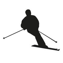 Vector skier silhouette