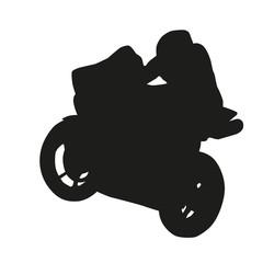 Moto racer silhouette