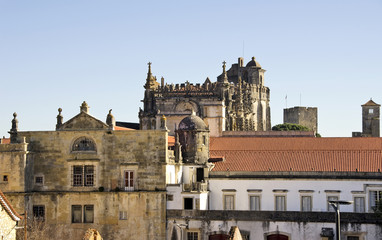 view of Palace of the Knights Templar , Tomar. Portugal