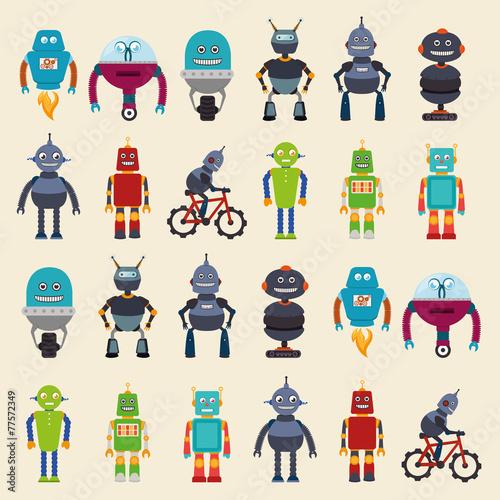 robot design, vector illustration - 77572349
