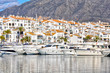 Leinwanddruck Bild - Deportes náuticos en España, Puerto Banús, Marbella