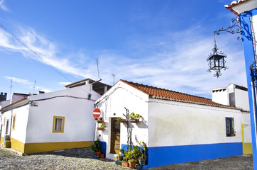 streets and houses of Vila Vicosa, Alentejo, Portugal