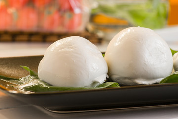 fresh italian cheese called Mozzarella