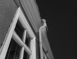 Icicles on pipe