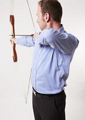 Bogenschütze mit gespannter Bogen, Anschnitt 5