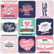 9 vintage styled Valentines day card