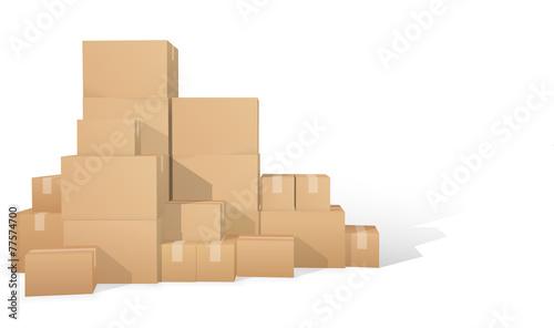 Cardboard boxes - 77574700