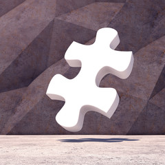 Abstract geometric puzzle background of the concrete