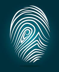 Finger design, vector illustration.