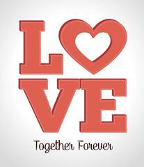 Love day, vector illustration.