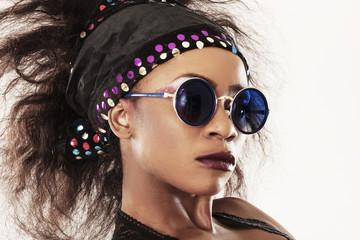 African model closeup portrait