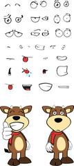 bull funny cartoon expression set5