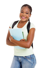 african college student portrait