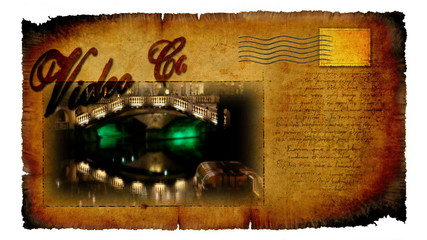 Animated video card with picture of decorated Ljubljana for winter holidays