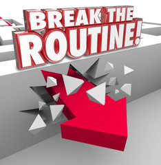 Break the Routine Arrow Through Maze Spontaneous Action Avoid Bo