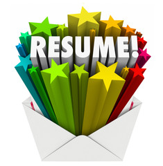 Resume Word Stars Open Envelope Promote Your Skills Knowledge Ex