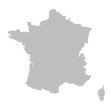 grey map of France - 77583172