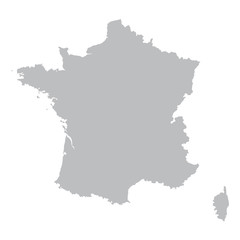 grey map of France