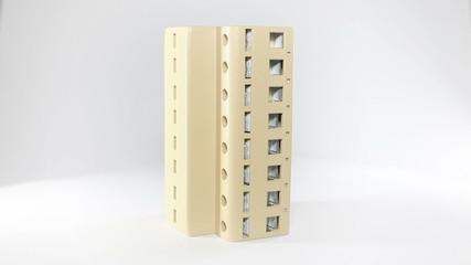 Overvoltage protection on white backround