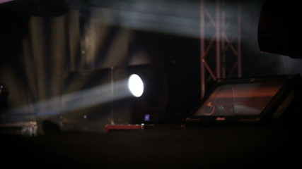 Shot of reflectors on stage