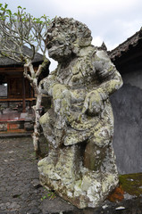 Closeup of traditional Balinese God statue