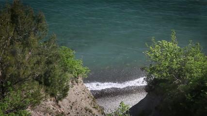 Shot of the coast near Piran