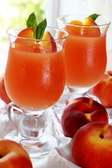 Two glass of fresh juice